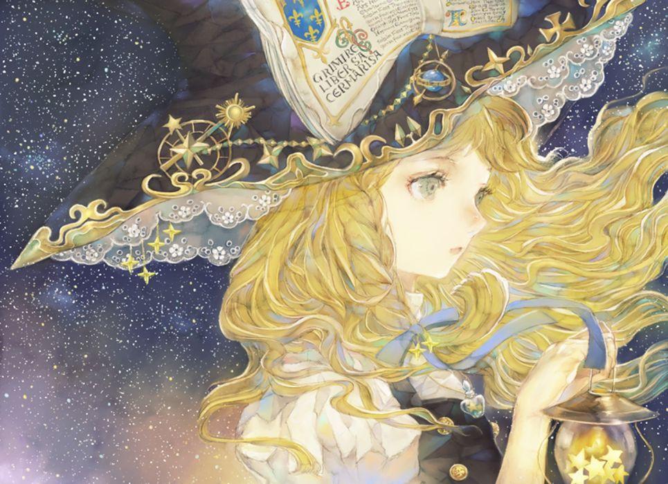 anime series witch blonde girl touhou character kirisame marisa wallpaper
