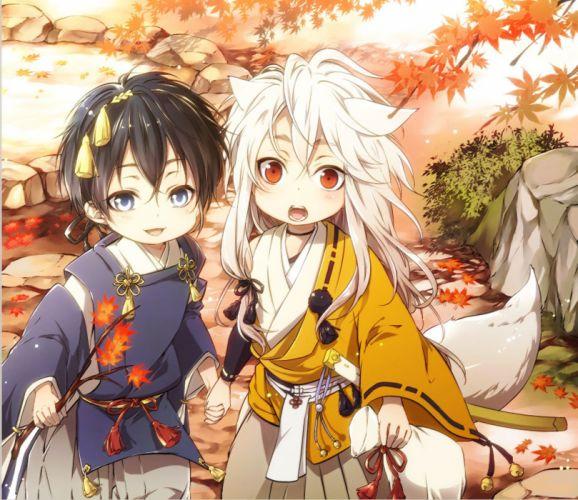 touken ranbu anime series boys characters original cute child wallpaper
