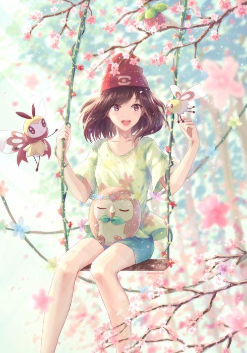 pokemon original anime girl smile wallpaper