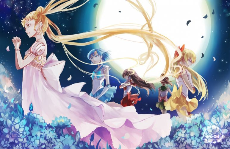 moon beautifuls girls bishoujo senshi sailor moon wallpaper