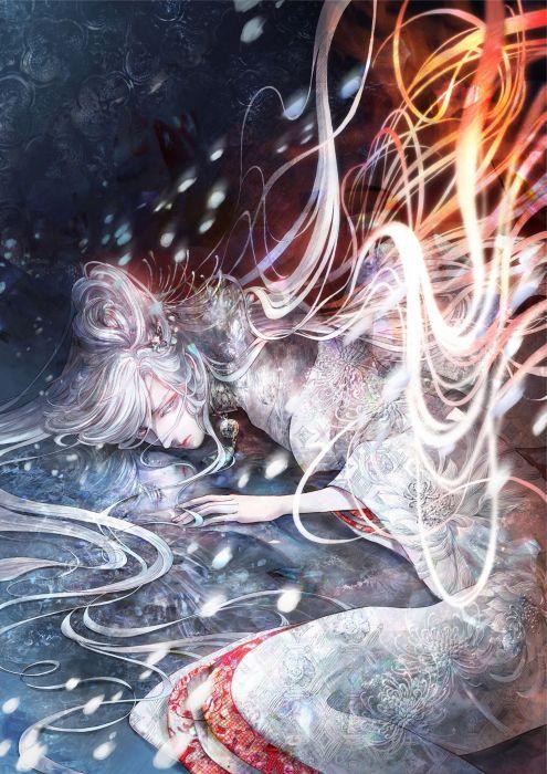 mythology yuki onna original anime wallpaper