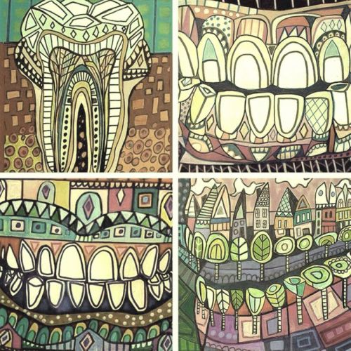 teeth art wallpaper