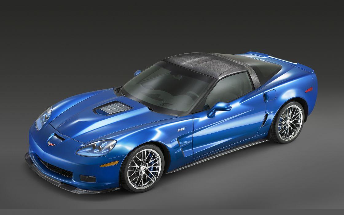 Chevrolet Corvette ZR1 2009 blue wallpaper