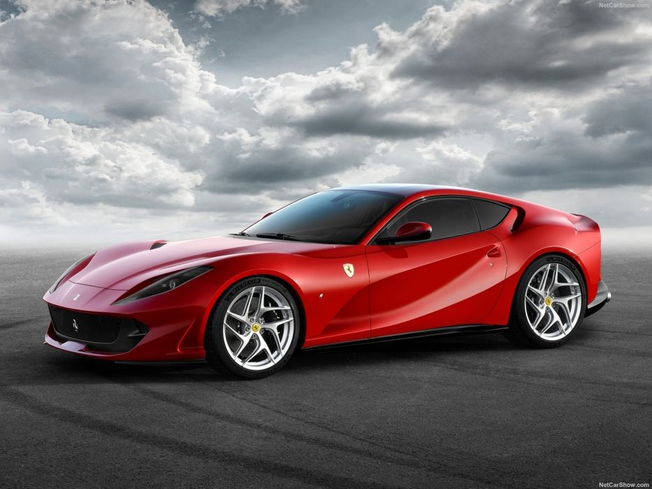 Ferrari 2017 812 Superfast cars red wallpaper