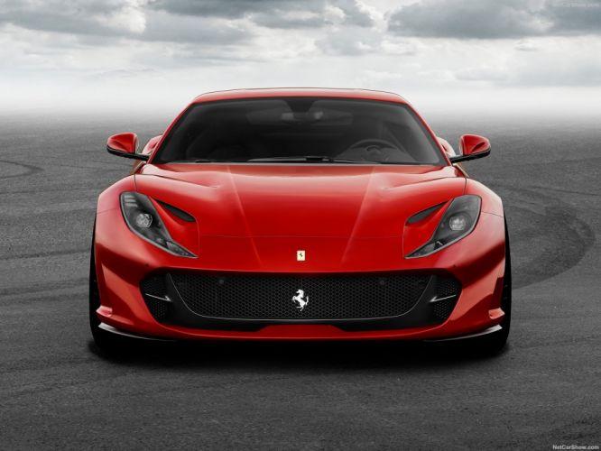 Ferrari 2017 812 Superfast cars red wallpaper