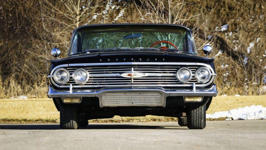 1960 CHEVROLET IMPALA cars black wallpaper