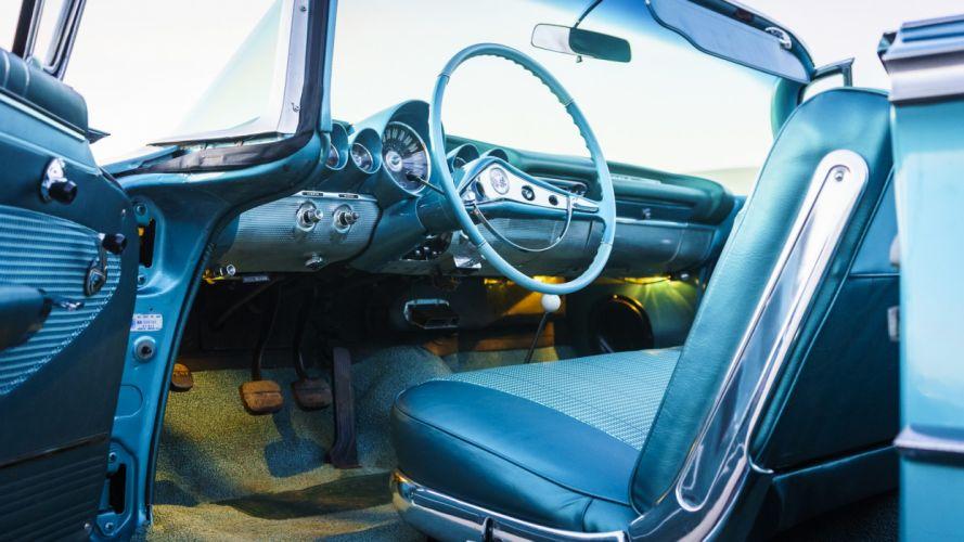 1960 CHEVROLET IMPALA convertible cars blue wallpaper
