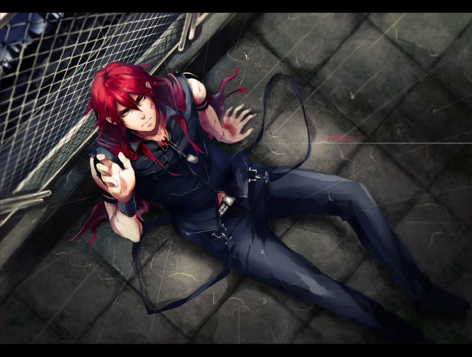 saito yukihiro original anime guy red hair wallpaper
