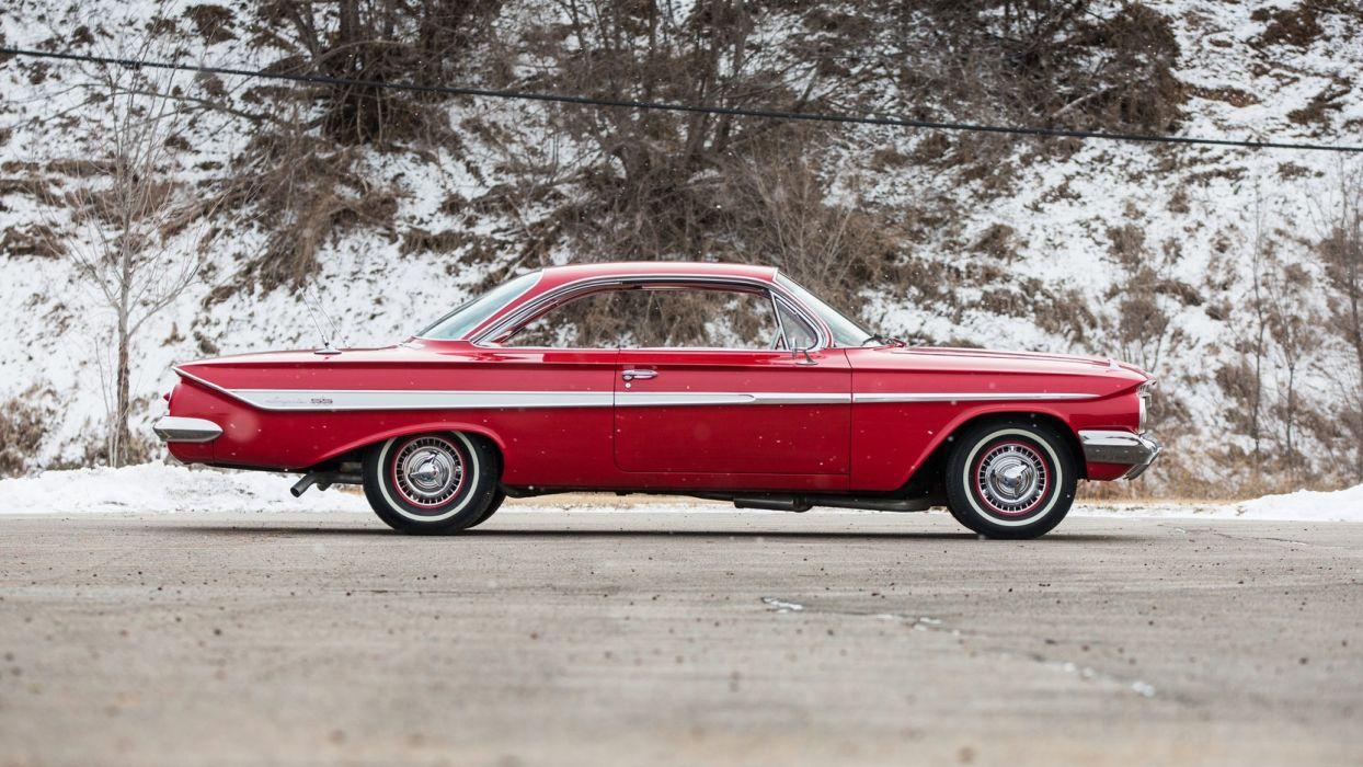 1961 CHEVROLET IMPALA cars red wallpaper