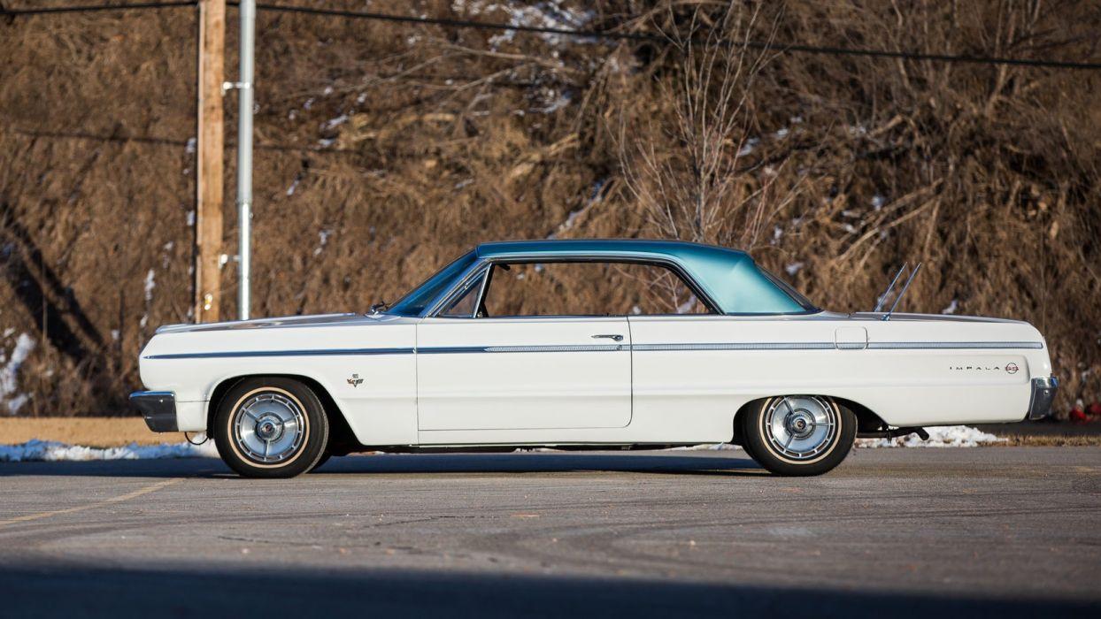 1964 CHEVROLET IMPALA (ss) cars white wallpaper