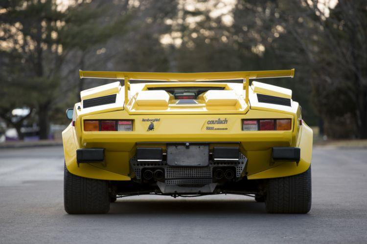 Lamborghini Countach LP5000 (S) Quattrovalvole cars supercars yellow 1987 wallpaper