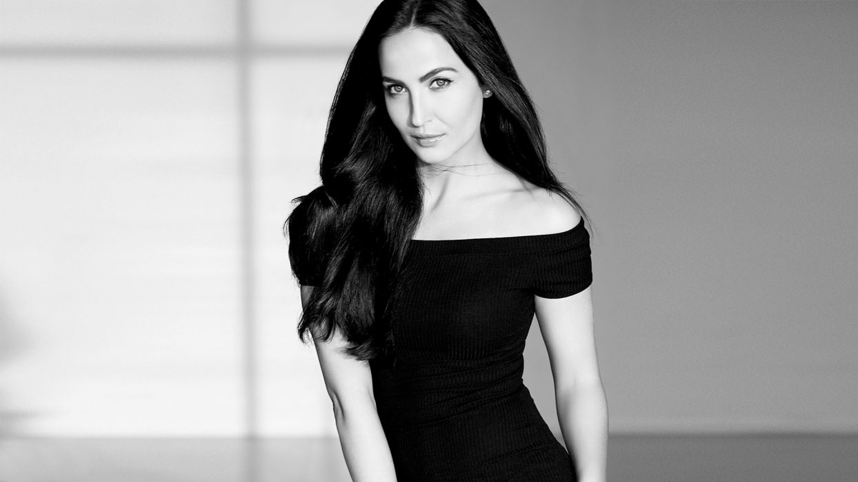 Elli Avram bollywood actress model girl beautiful brunette pretty cute beauty sexy hot pose face eyes hair lips smile figure indian wallpaper