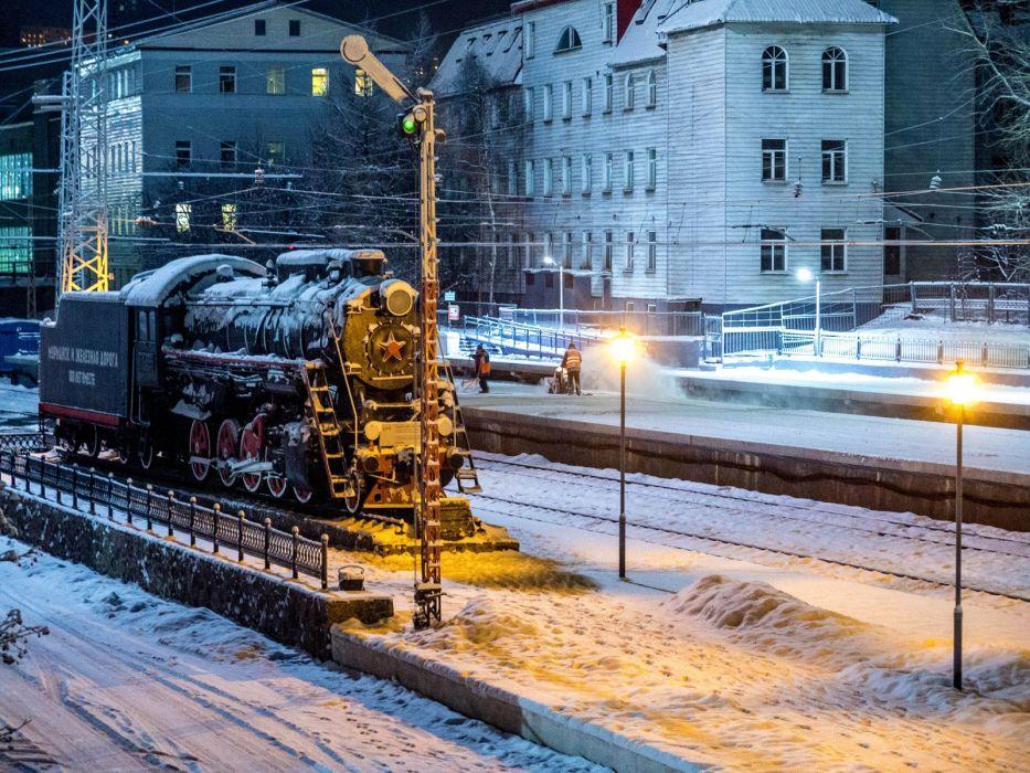 viejo tren vapor ruso oscuridad wallpaper