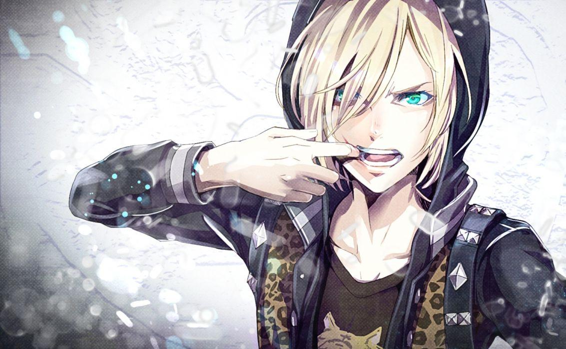 Plisetsky Yuri Yuri On Ice Hoodie Blonde anime series character original wallpaper