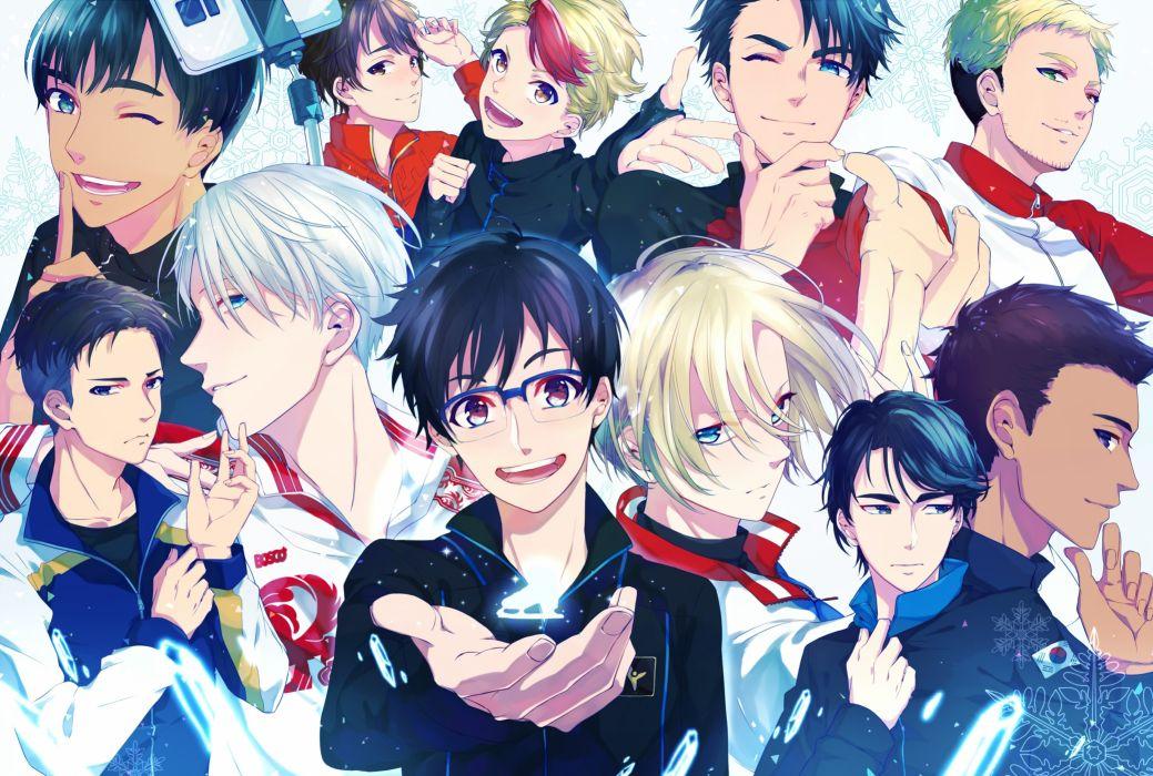 anime series character original Yuri On Ice Katsuki Yuuri Nikiforov Victor Plisetsky Yuri Shoujo Anime Boys wallpaper