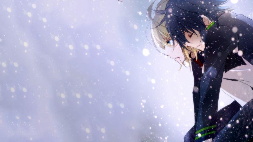 Owari No Seraph Yuuichirou Hyakuya Mikaela Hyakuya Snow Vampire anime series character original wallpaper