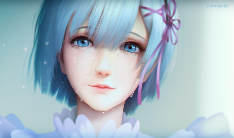 Anime Characters Realistic : Rezero kara hajimeru isekai seikatsu rem semi realistic crying