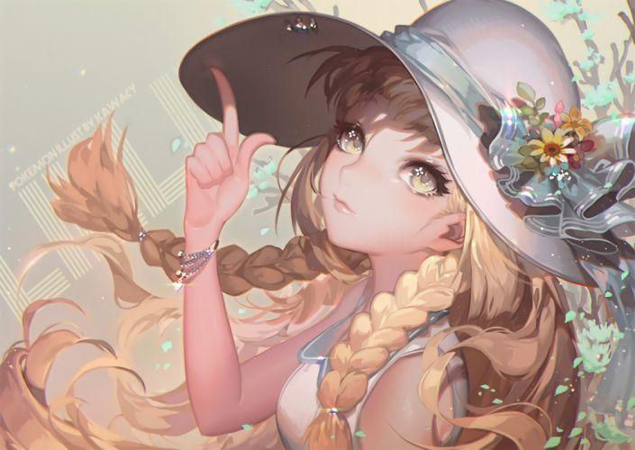Lillie Pokemon Hat Braids Blonde Semi Realistic wallpaper