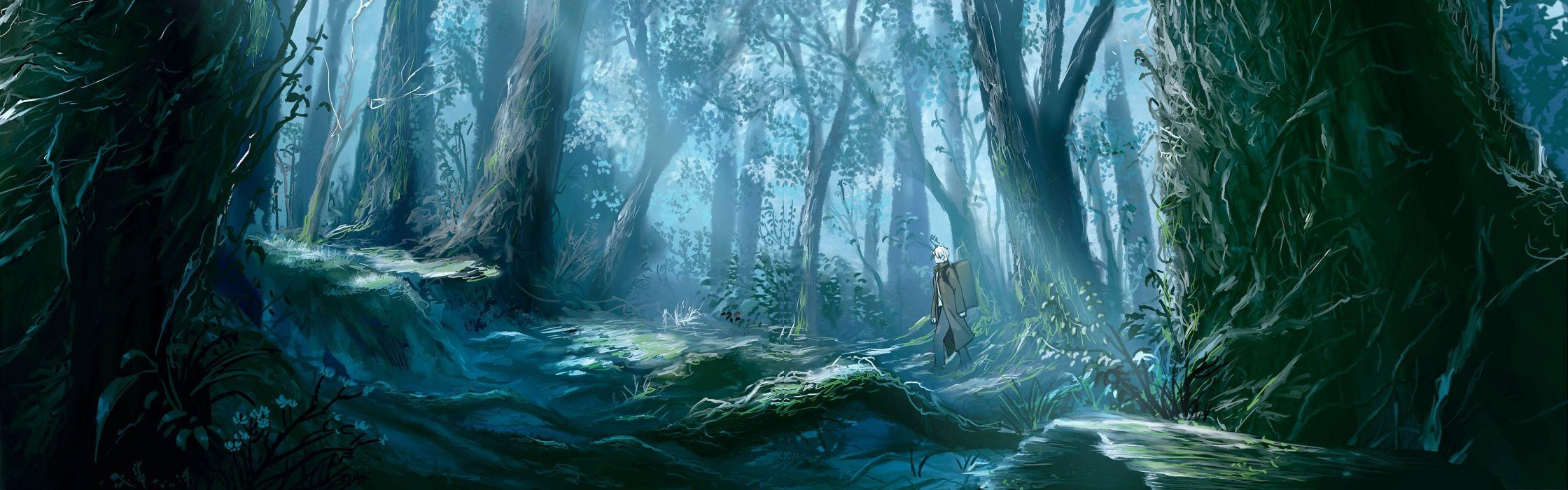 Mushishi Ginko Forest Walking Scenic anime series character original wallpaper