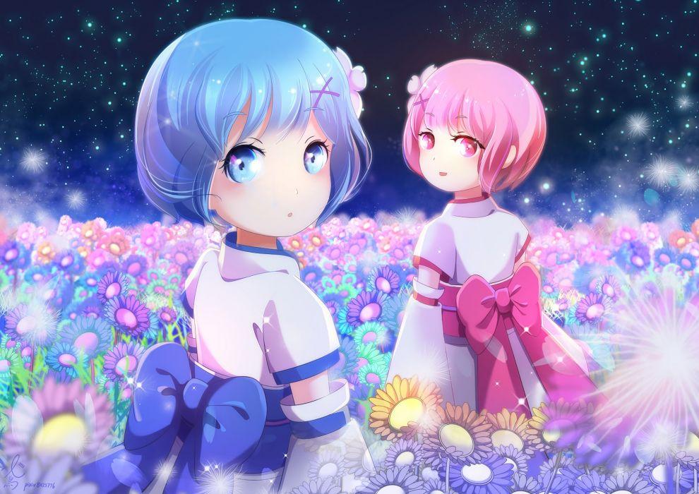 Ram Rem Child Kimono Stars Garden Re Zero Kara Hajimeru
