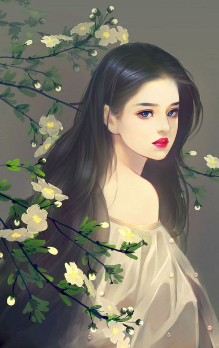 Original Girl Long Hair Blue Eyes Beautiful Wallpaper 1440x2291 1078825 Wallpaperup