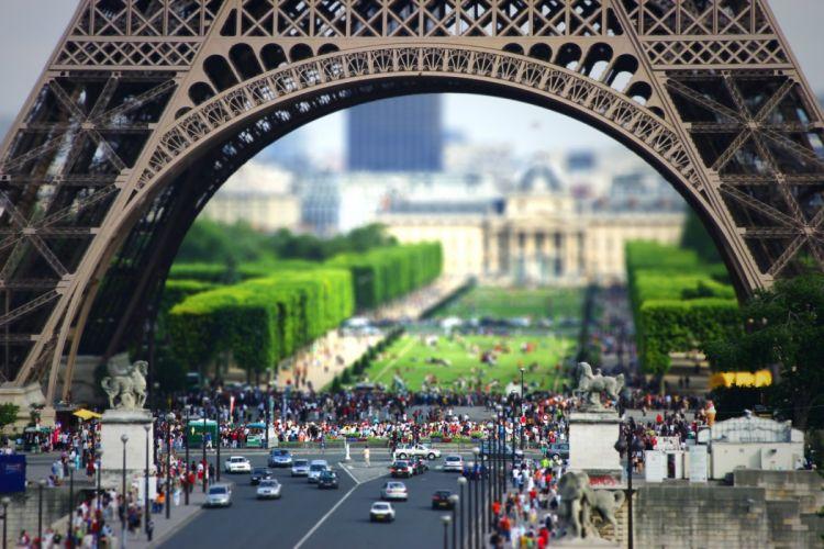 Tilt Shift Paris wallpaper