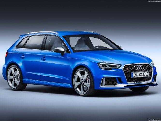 Audi RS3 Sportback cars blue 2017 wallpaper