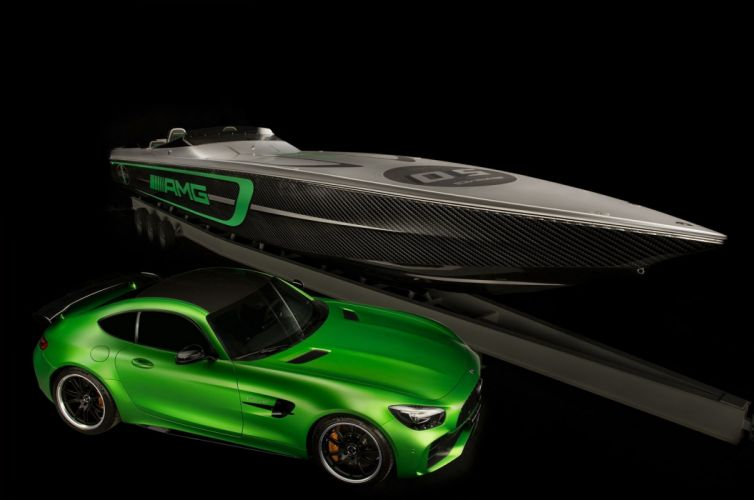Mercedes AMG Cigarette Racing Cars Boat wallpaper