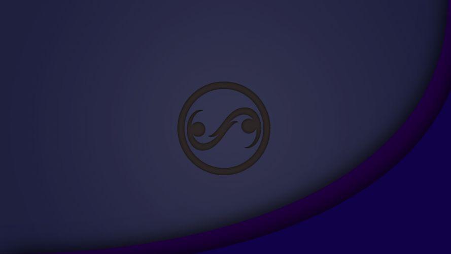 minimalism minimalistic minimal flat light linux gnu dist logo duzeru wallpaper