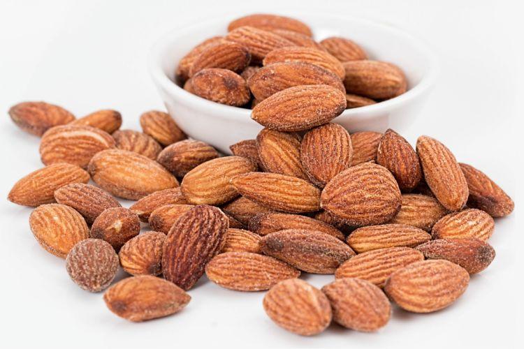 Almonds Roasted Snacks Bowl wallpaper