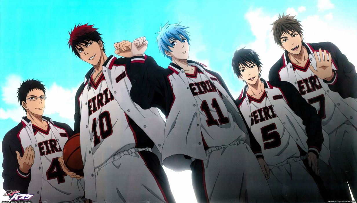 anime boys Kuroko No Basket Tetsuya Kuroko Taiga Kagami Junpei Hyuga Rinnosuke Mitobe wallpaper