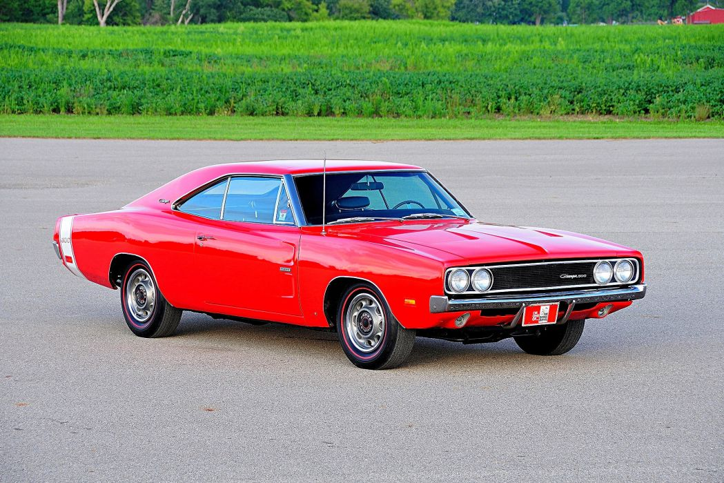 1969 Dodge Charger 500 cars red wallpaper
