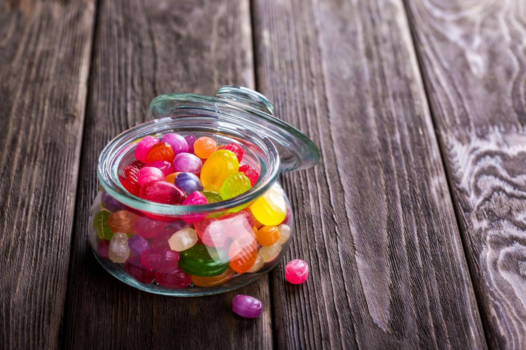 Colorful Candies Bowl Sweets wallpaper