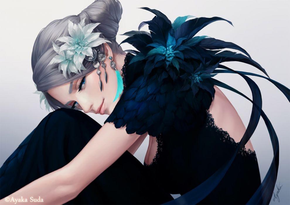 Fantasy Girl Silver Hair wallpaper