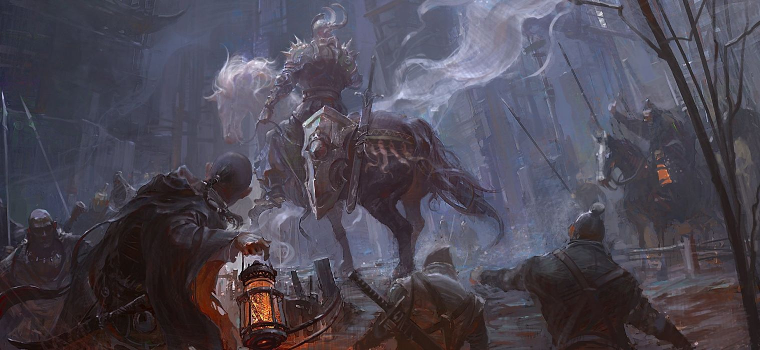 Knight Horse Battlefield Bloody Painting wallpaper