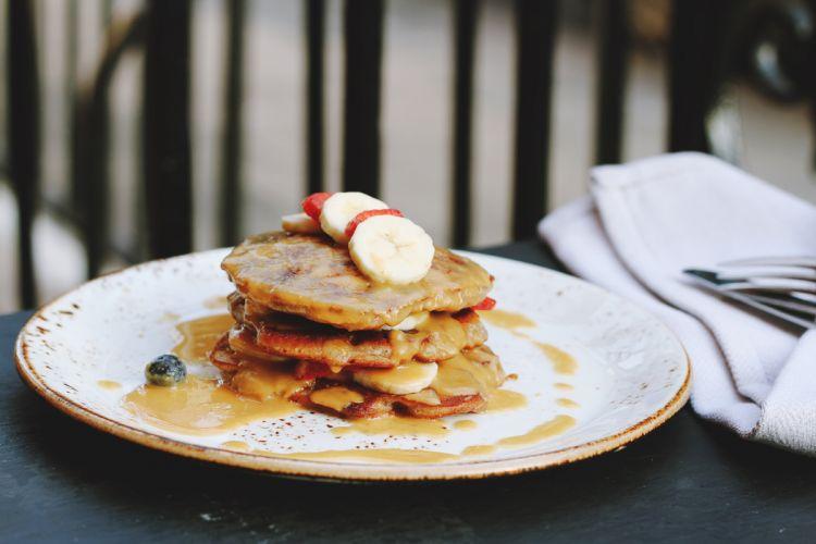 Pancake Sauce Dessert Fruits wallpaper