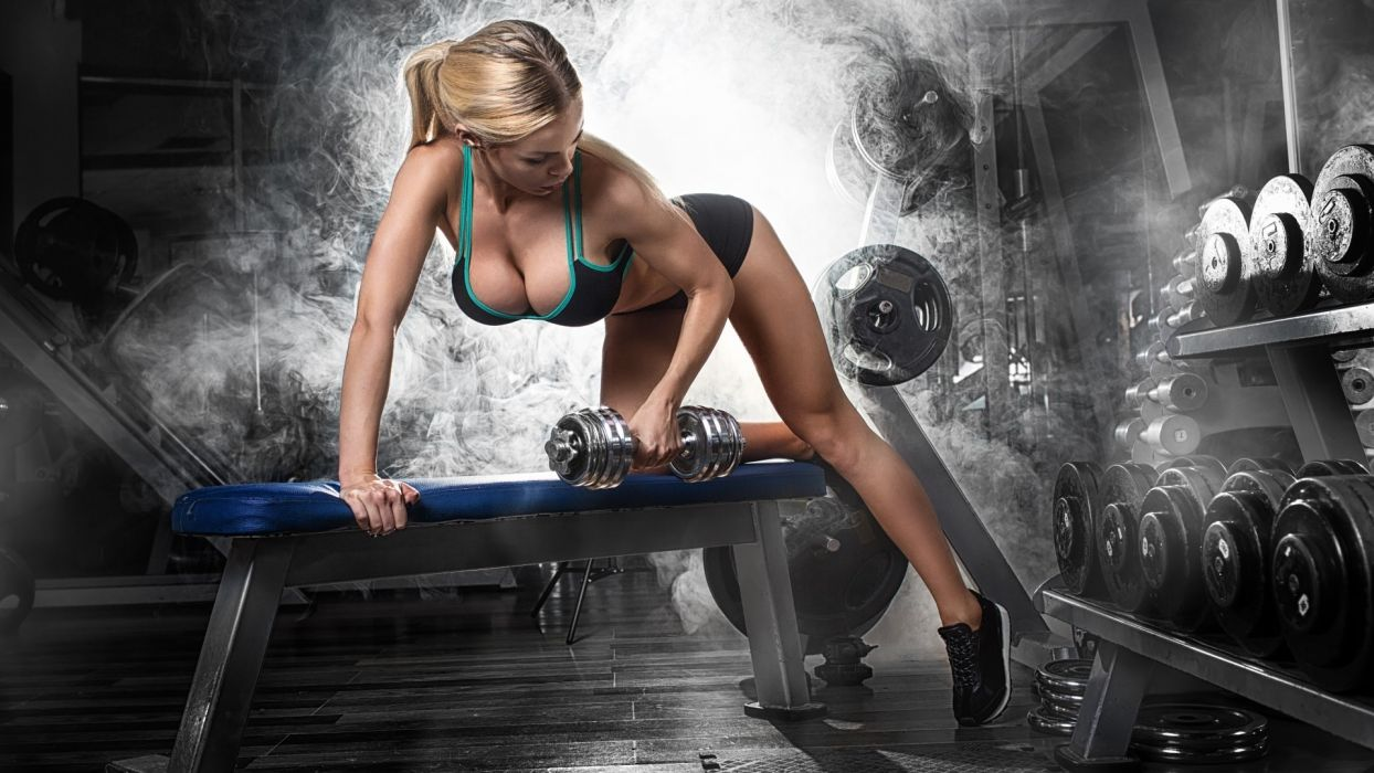 WOMEN & SPORTS girl-fitness-body-training-ball-sexy wallpaper