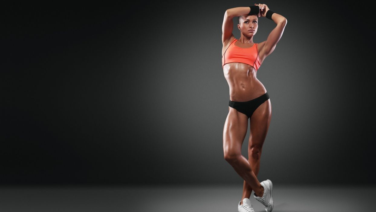 WOMEN & SPORTS girl-fitness-body-gym wallpaper