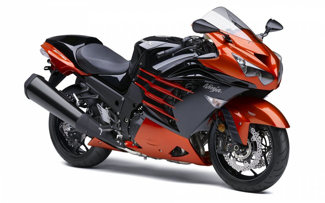 Kawasaki Ninja ZX14R orange wallpaper