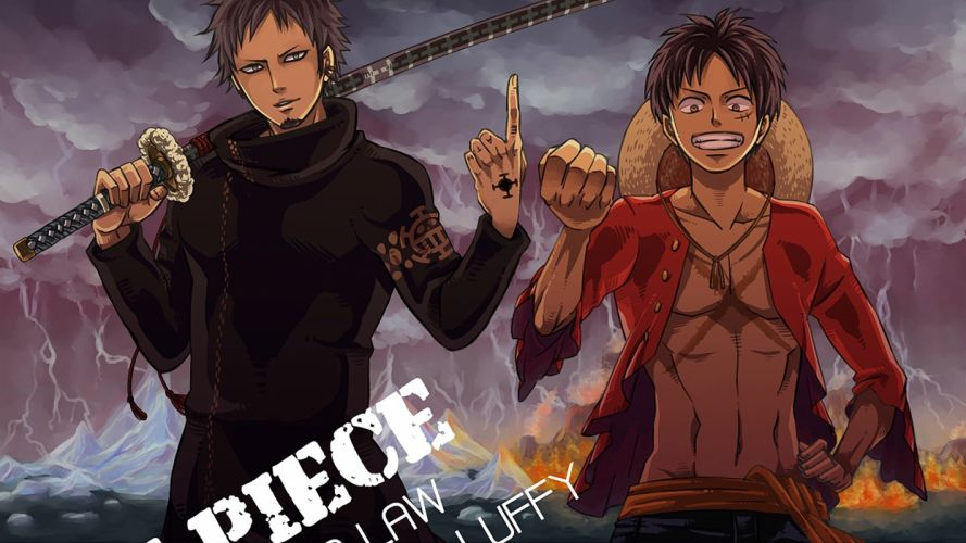 Law and Luffy One Piece Anime wallpaper