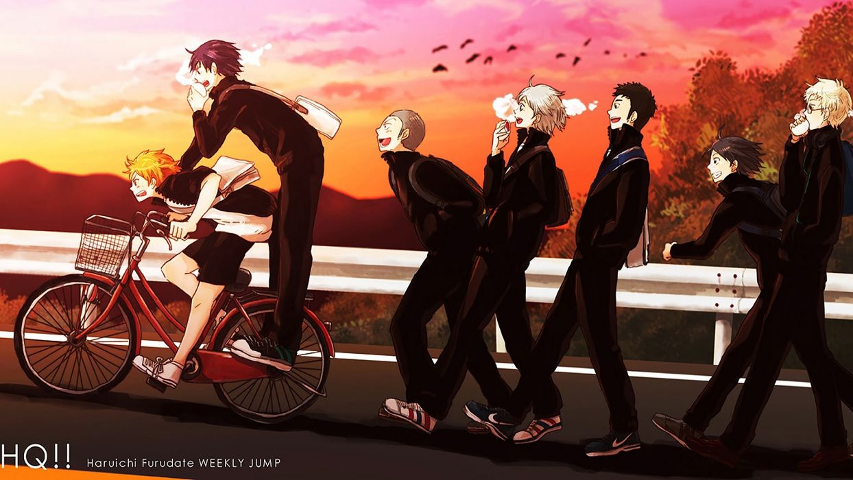 bike Karasuno High Haikyuu Anime wallpaper