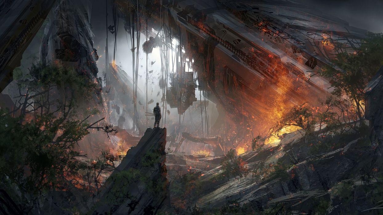 fantasy Titanfall 2 Game Sci-Fi Art wallpaper