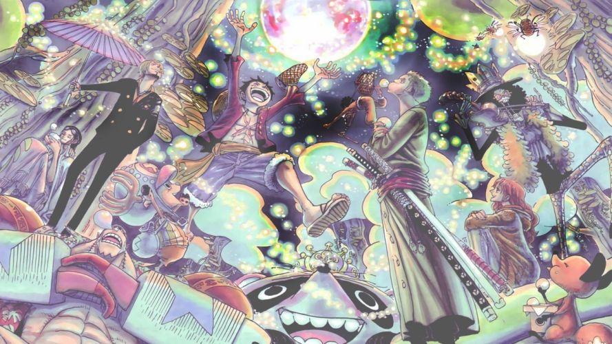 One Piece New World anime series group wallpaper