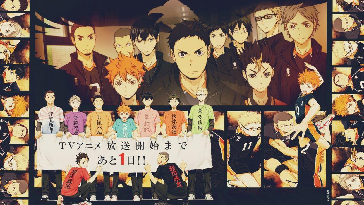 anime Karasuno High Volleyball Team Haikyuu wallpaper
