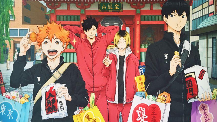 anime series Haikyuu Shoyo Tobio Tetsuro and Kenma wallpaper