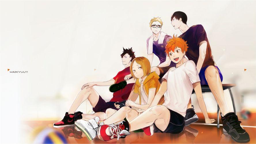 Haikyuu Anime Kageyama Hinata Tsukishima Kuroo and Kenma wallpaper