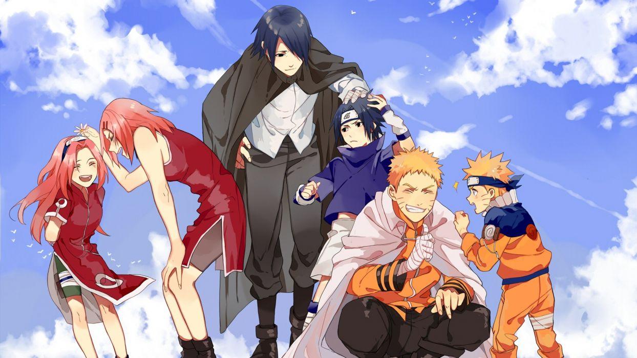 Sasuke Naruto and Sakura Anime series wallpaper