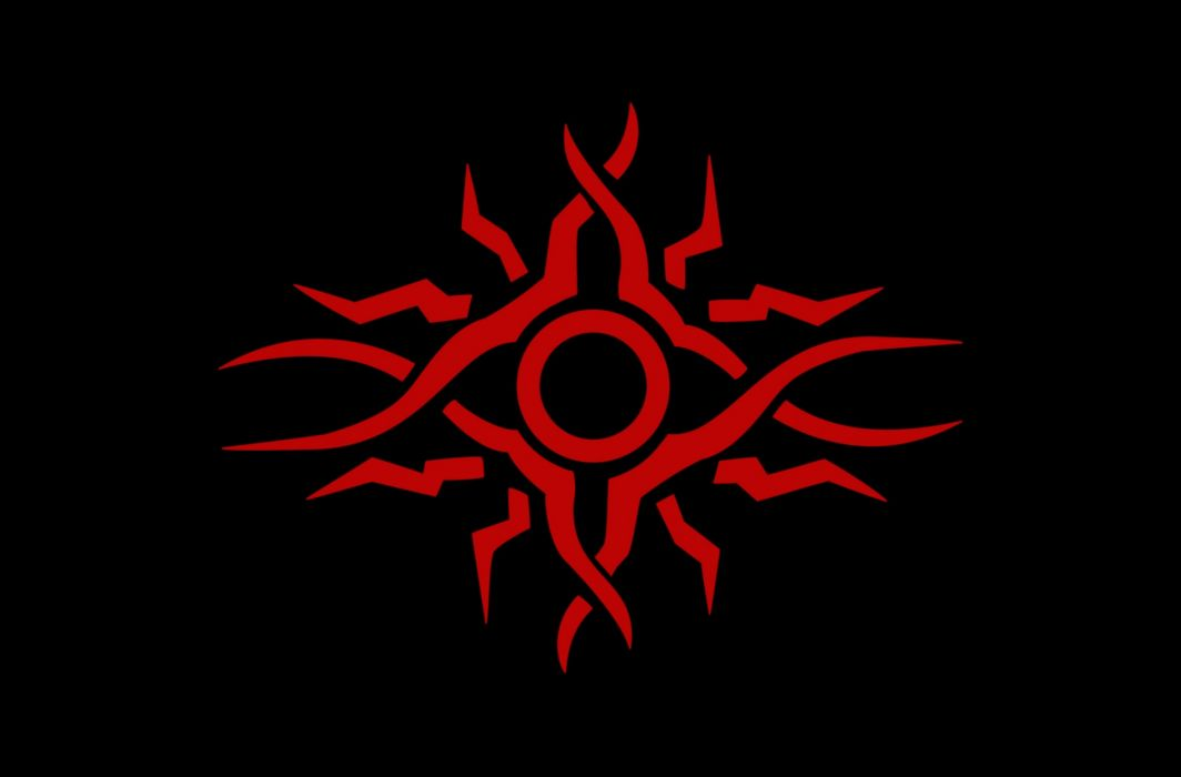 Red Tribal Sun wallpaper