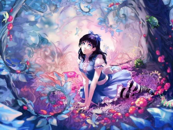 Anime chica manga bosque wallpaper