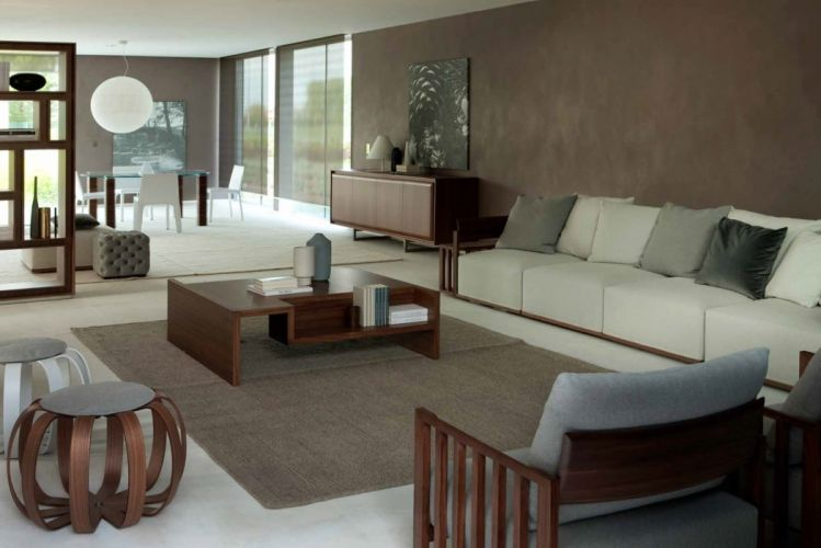 interior moderno salon muebles wallpaper